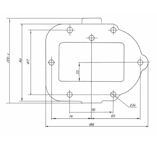Коробка відбору потужності АЦ-4,8-3307-01-150. Фото 2